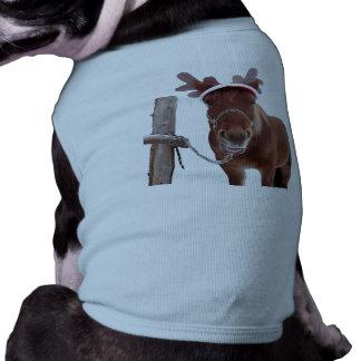 Pferderotwild - Weihnachtspferd - lustiges Pferd Shirt