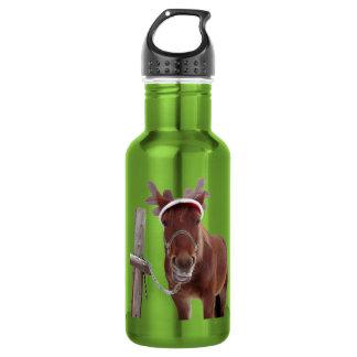 Pferderotwild - Weihnachtspferd - lustiges Pferd Trinkflasche