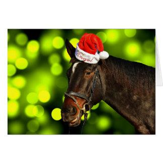 Pferdesankt-Weihnachtskarte Karte