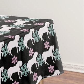 Pferdeschneeflocke-Muster-Tischdecke Tischdecke