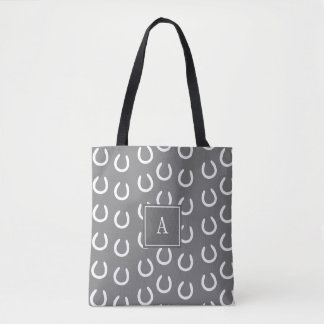 Horse Shoe Monogram Grey