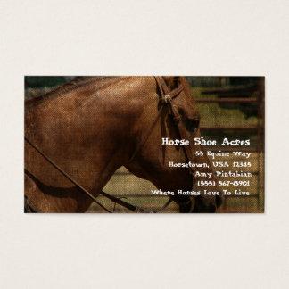 Pferdeschuh-Morgen-Western Visitenkarte