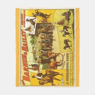 Pferdeshow-Zirkus-Plakat-Fleece-Decke Fleecedecke