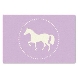 """PferdeSilhouette 10"""" x 15"""" Seidenpapier (lila)"""