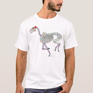 PferdeSkeleton Tag der Toten T-Shirt