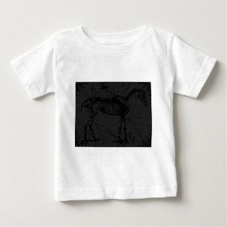 Pferdeskelett dunkelgrau baby t-shirt