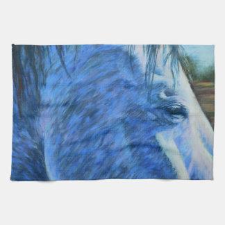 Pferdestudie im Blau Handtuch