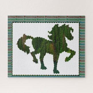 Pferdetänzelnde Tierhaustier-Polospiele Puzzle