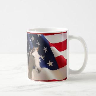 PferdeTassen-amerikanische Flagge Kaffeetasse