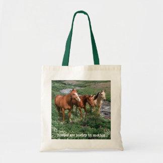 Pferdetrio-Taschen-Tasche Budget Stoffbeutel
