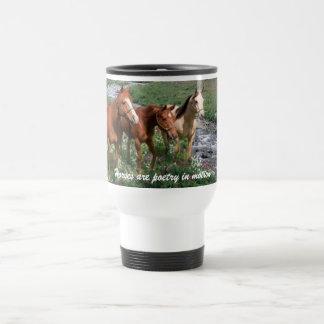 Pferdetrio-Tasse Edelstahl Thermotasse