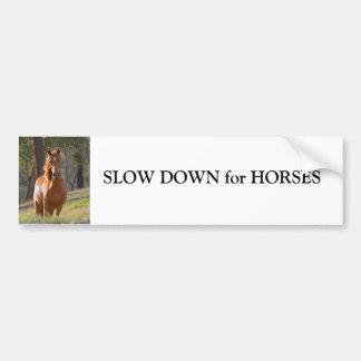 Pferdeverlangsamung für autoaufkleber