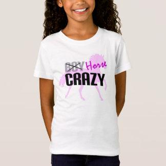 Pferdeverrückter Mädchen-T - Shirt