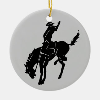 Pferdeverzierung Rundes Keramik Ornament