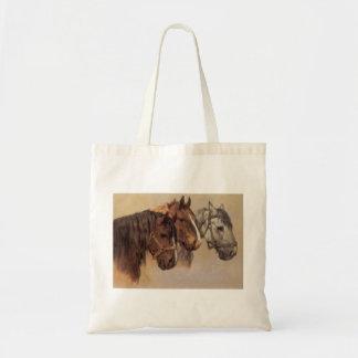 PferdeVintage Taschen-Tasche Budget Stoffbeutel