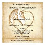 PferdeWestern-Hochzeitseinladungen Mitteilungen Quadratische 13,3 Cm Einladungskarte