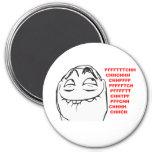 PFFTCH lachendes Raserei-Gesichts-Comic Meme Kühlschrankmagnete