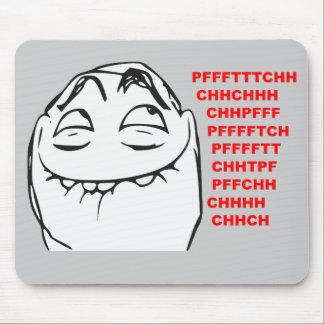PFFTCH lachendes Raserei-Gesichts-Comic Meme Mauspad