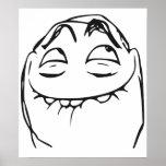 PFFTCH lachendes Raserei-Gesichts-Comic Meme Plakat