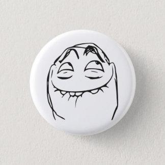PFFTCH lachendes Raserei-Gesichts-Comic Meme Runder Button 3,2 Cm