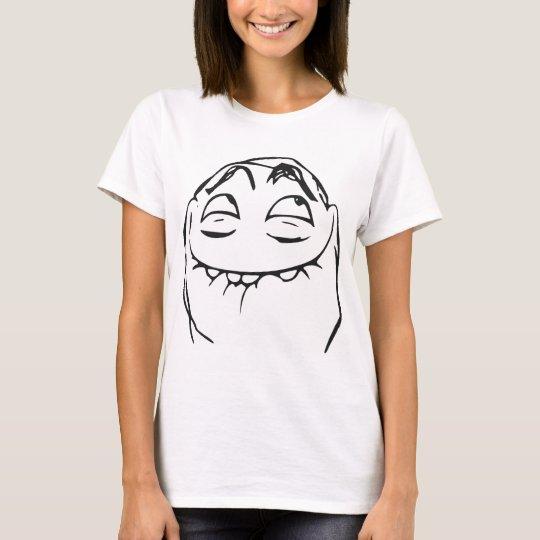 PFFTCH lachendes Raserei-Gesichts-Comic Meme T-Shirt