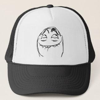 PFFTCH lachendes Raserei-Gesichts-Comic Meme Truckerkappe