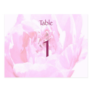 Pfingstrose Romantica Wedding Tischnummern Postkarte