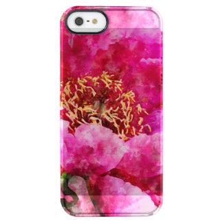 Pfingstrosen-Aquarellrosa Durchsichtige iPhone SE/5/5s Hülle