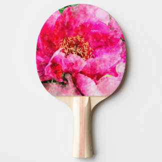 Pfingstrosen-Aquarellrosa Tischtennis Schläger