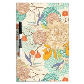 Pfingstrosen-Blumen-Muster Trocken-Löschen Brett Memoboard