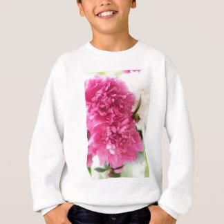 Pfingstrosen-Blumen-Nahaufnahme-Skizze Sweatshirt