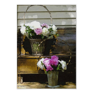 Pfingstrosen-Blumenstrauß-Plakat-Drucke