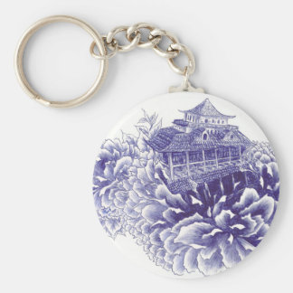 Pfingstrosen-Palast Schlüsselanhänger