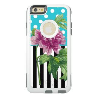 Pfingstrosen-Tupfen-Blau OtterBox iPhone 6/6s Plus Hülle