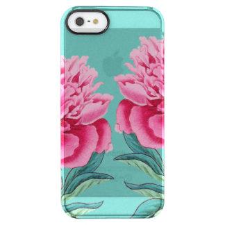 Pfingstrosen-Türkis Durchsichtige iPhone SE/5/5s Hülle
