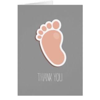 Pfirsich-Abdruck danken Ihnen Karte