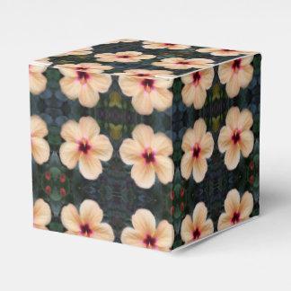 Pfirsich-Blumen-Bevorzugungskasten Geschenkschachtel