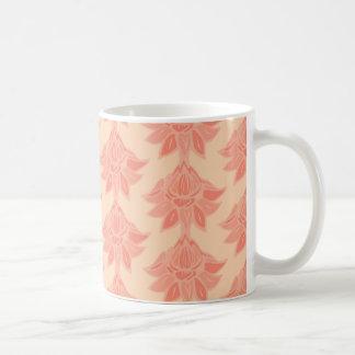 Pfirsich-Blumen-Druck Kaffeetasse