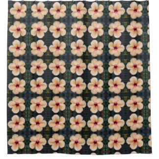 Pfirsich-Blumen-Duschvorhang Duschvorhang