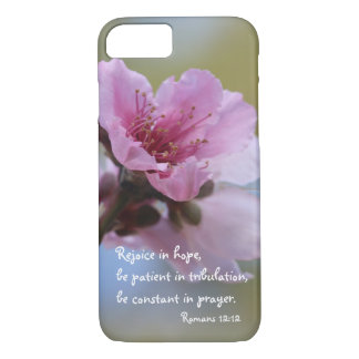 Pfirsich-Blüten-Bibel-Vers über Hoffnung, iPhone 8/7 Hülle