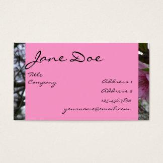 Pfirsich-Blüten - Geschäft Visitenkarte