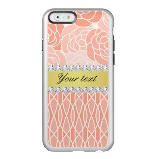 Pfirsich-Chrysantheme-geometrisches Gold und Incipio Feather® Shine iPhone 6 Hülle