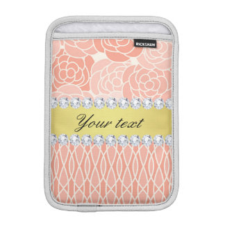 Pfirsich-Chrysantheme-geometrisches Gold und Sleeve Für iPad Mini