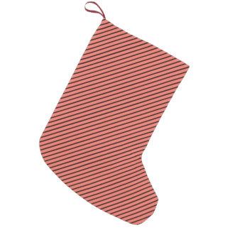 Pfirsich-Echo und schwarzer Streifen Kleiner Weihnachtsstrumpf