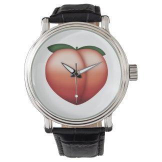 Pfirsich - Emoji Armbanduhr