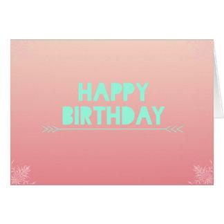 Pfirsich erröten Geburtstags-Karte Karte