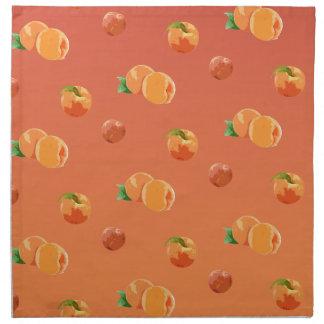 Pfirsich-Frucht-Muster Serviette
