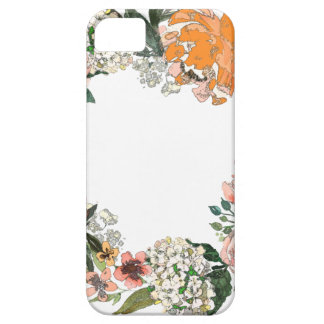 Pfirsich-Frühjahr-Kranz iPhone 5 Etui