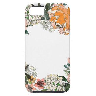 Pfirsich-Frühjahr-Kranz Tough iPhone 5 Hülle