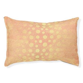 Pfirsich-goldene Punkt-Pastellprinzessin Vip Glam Haustierbett